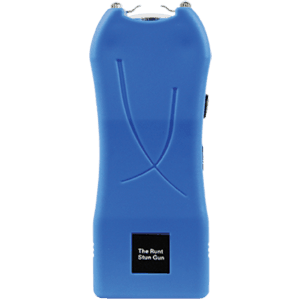 runt stun gun rechargeable blue front view